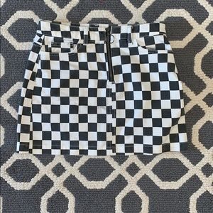 checkered urban outfitters skirt